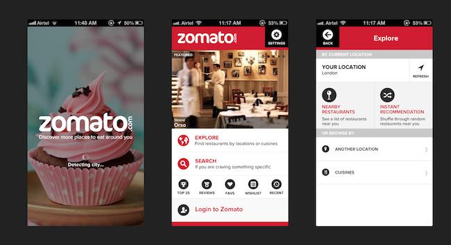 تطبيق Zomato - 8 تطبيقات جوال هامة لا غنى عنها عند السفر