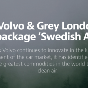 Lovely use of @Medium by @GreyLondon to promote 'Swedish Air'